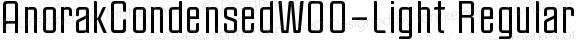 AnorakCondensedW00-Light Regular Version 1.00