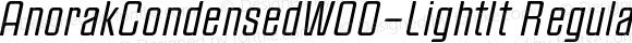 AnorakCondensedW00-LightIt Regular Version 1.00
