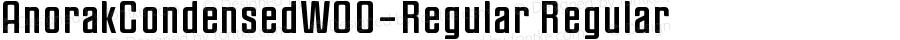 AnorakCondensedW00-Regular Regular Version 1.00