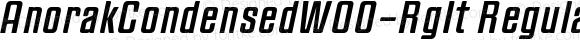 AnorakCondensedW00-RgIt Regular Version 1.00
