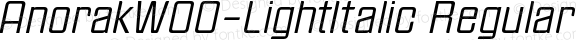 AnorakW00-LightItalic Regular Version 1.00