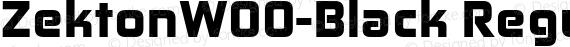 ZektonW00-Black Regular preview image