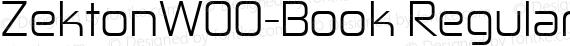 ZektonW00-Book Regular preview image