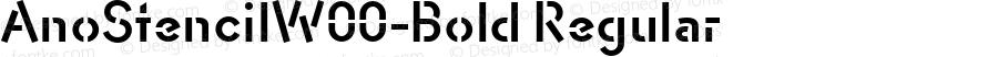 AnoStencilW00-Bold Regular Version 1.00