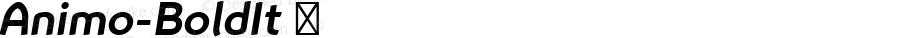 Animo-BoldIt ☞ Version 1.05          UltraPrecision Font;com.myfonts.easy.durotype.animo.bold-italic.wfkit2.version.4vmp