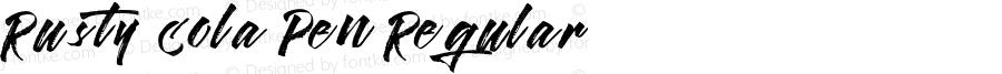 Rusty Cola Pen Regular Version 1.000;PS 001.000;hotconv 1.0.70;makeotf.lib2.5.58329