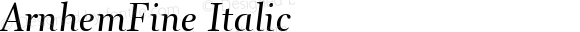 ArnhemFine Italic 001.000