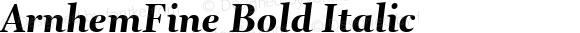 ArnhemFine Bold Italic 001.000
