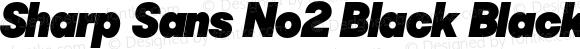 Sharp Sans No2 Black Black Oblique