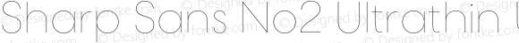 Sharp Sans No2 Ultrathin Ultrathin