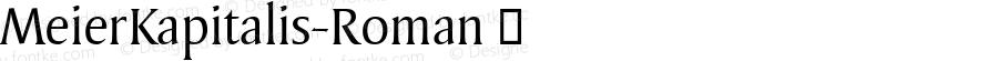 MeierKapitalis-Roman ☞ Version 1.000; ttfautohint (v0.96) -l 8 -r 50 -G 200 -x 14 -w