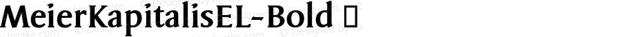 MeierKapitalisEL-Bold ☞ Version 1.000; ttfautohint (v0.96) -l 8 -r 50 -G 200 -x 14 -w