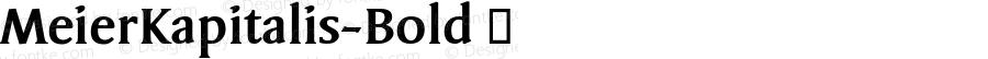 MeierKapitalis-Bold ☞ Version 1.000; ttfautohint (v0.96) -l 8 -r 50 -G 200 -x 14 -w