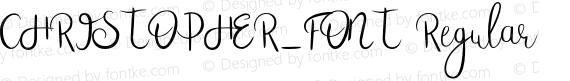 CHRISTOPHER_FONT Regular preview image