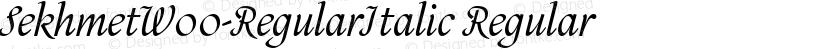 SekhmetW00-RegularItalic Regular Preview Image
