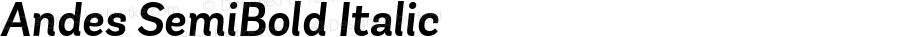 Andes SemiBold Italic Version 1.000