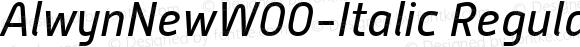 AlwynNewW00-Italic Regular Version 5.00