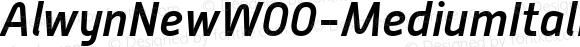 AlwynNewW00-MediumItalic Regular Version 5.00