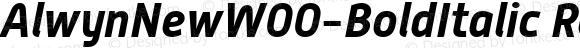AlwynNewW00-BoldItalic Regular Version 5.00