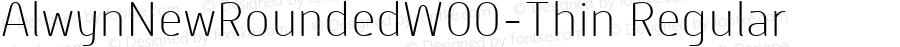 AlwynNewRoundedW00-Thin Regular Version 1.00