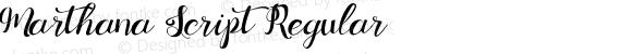 Marthana Script Regular