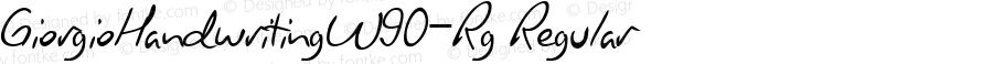 GiorgioHandwritingW90-Rg Regular Version 1.00