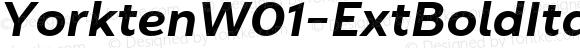 YorktenW01-ExtBoldItalic Regular