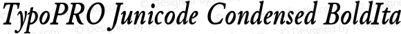 TypoPRO Junicode Condensed BoldItalicCondensed