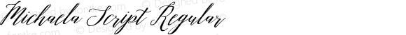 Michaela Script Regular