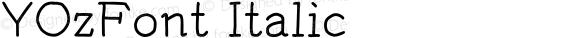 YOzFont Italic