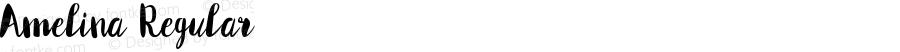 Amelina Regular Version 1.000;PS 001.001;hotconv 1.0.56