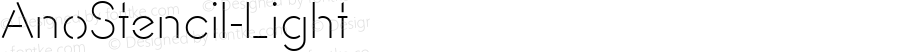 AnoStencil-Light ☞ Version 1.00 2014;com.myfonts.easy.alias.anostencil.light.wfkit2.version.4ta7