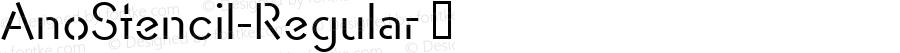 AnoStencil-Regular ☞ Version 1.00 2015;com.myfonts.easy.alias.anostencil.regular.wfkit2.version.4ta8