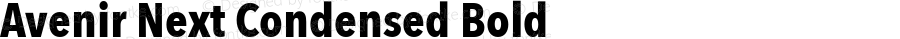 Avenir Next Condensed Bold 8.0d2e1