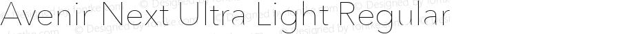 Avenir Next Ultra Light Regular 8.0d2e1