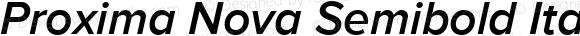 Proxima Nova Semibold Italic