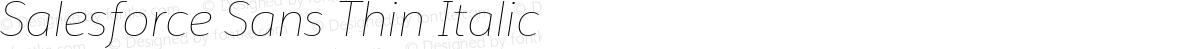 Salesforce Sans Thin Italic