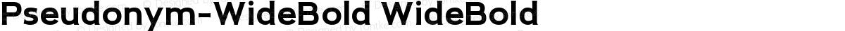 Pseudonym-WideBold WideBold
