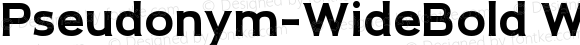 Pseudonym-WideBold WideBold Version 1.0