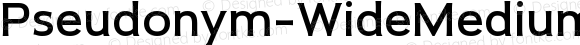 Pseudonym-WideMedium WideMedium