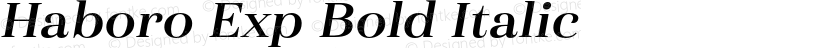 Haboro Exp Bold Italic Preview Image
