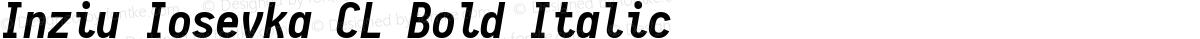 Inziu Iosevka CL Bold Italic