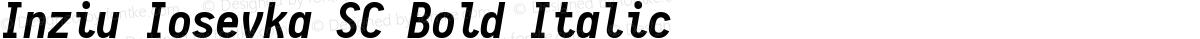 Inziu Iosevka SC Bold Italic