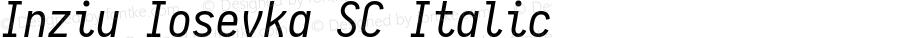 Inziu Iosevka SC Italic