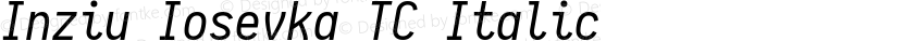 Inziu Iosevka TC Italic Preview Image