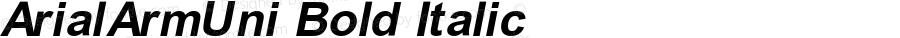 ArialArmUni Bold Italic Version 2.90; 2002