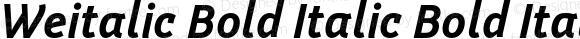 Weitalic Bold Italic Bold Italic