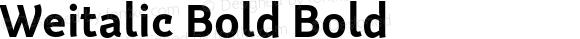 Weitalic Bold Bold