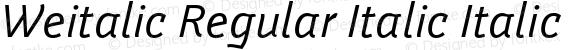 Weitalic Regular Italic Italic