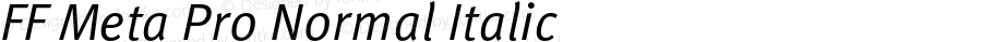 FFMetaPro-NormalItalic
